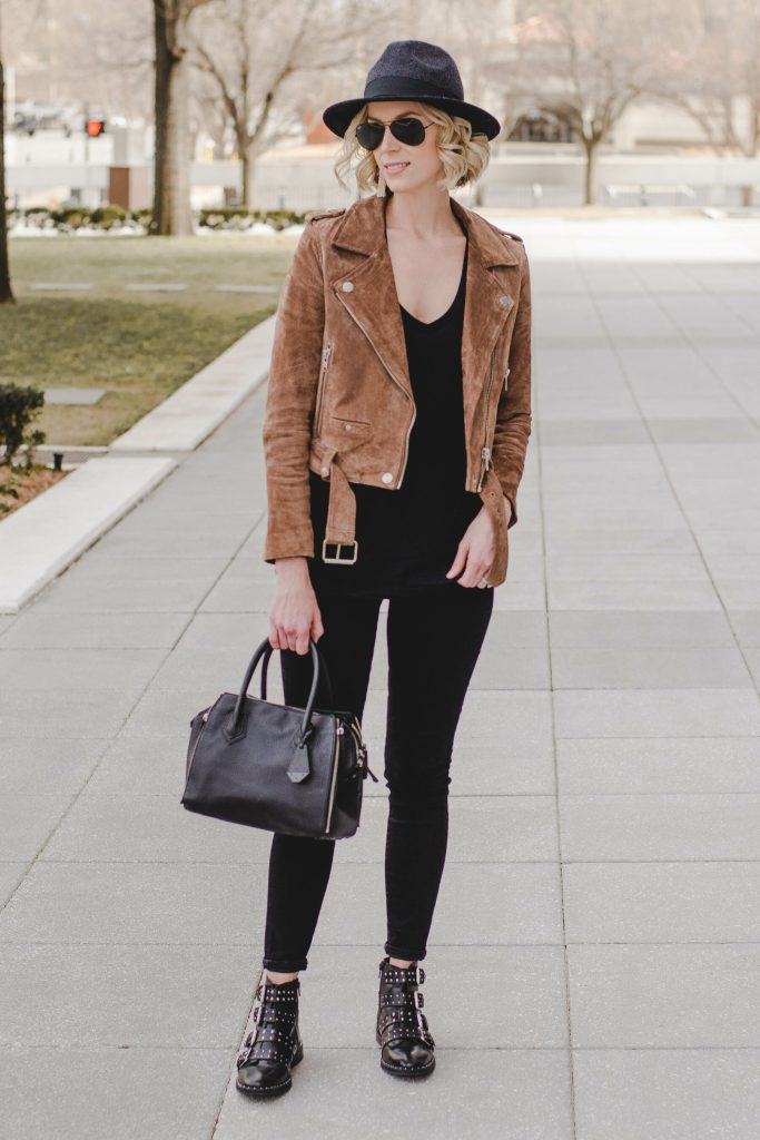 easy casual outfit with edge