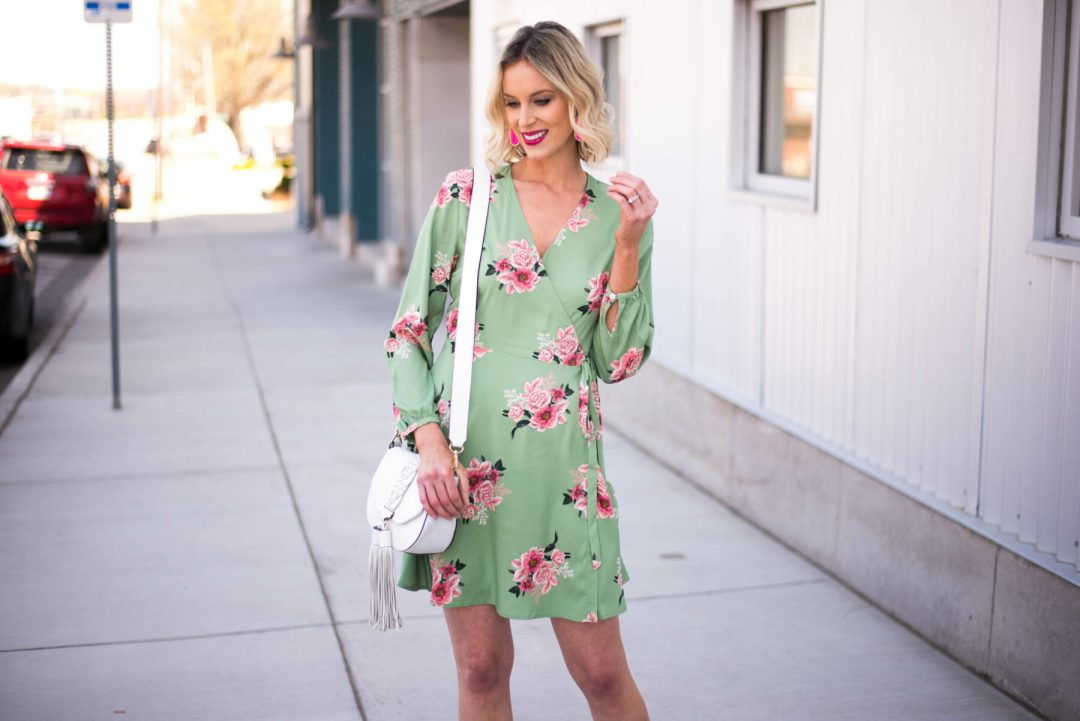 ff7985f27b Isn t this floral wrap dress so gorgeous ! It is selling out quick  unfortunately because of an amazing 50% off sale at LOFT (I m linking some  of my favorite ...