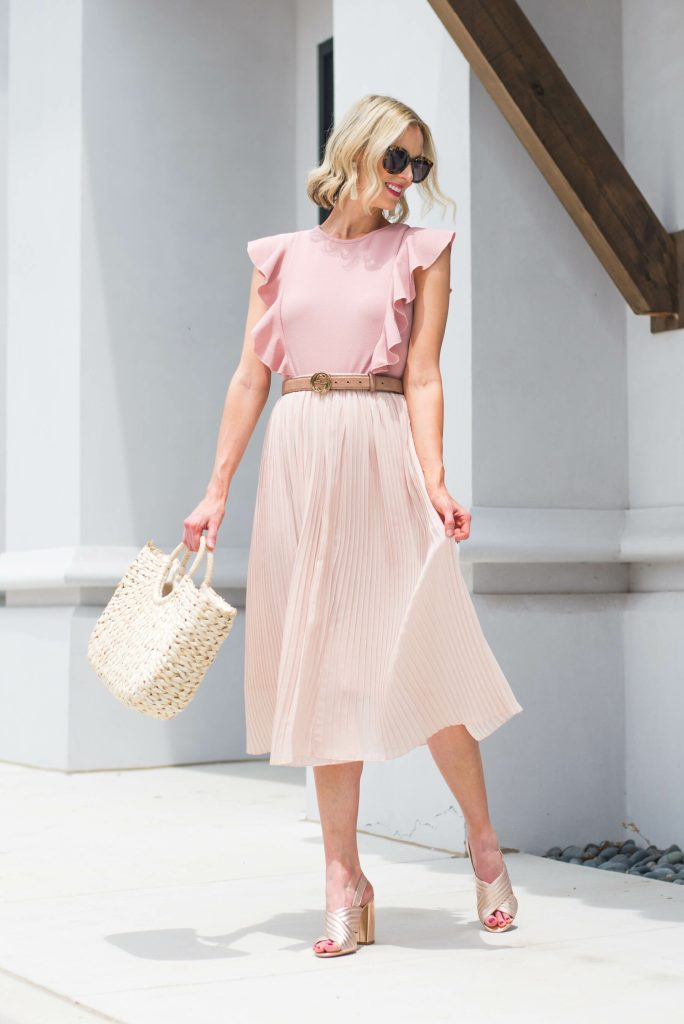 all pink dressy outfit