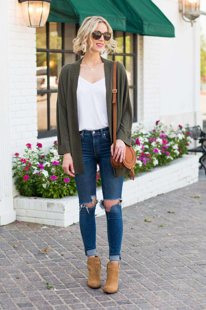 easy fall outfit ideas made up of the basics you have in your wardrobe