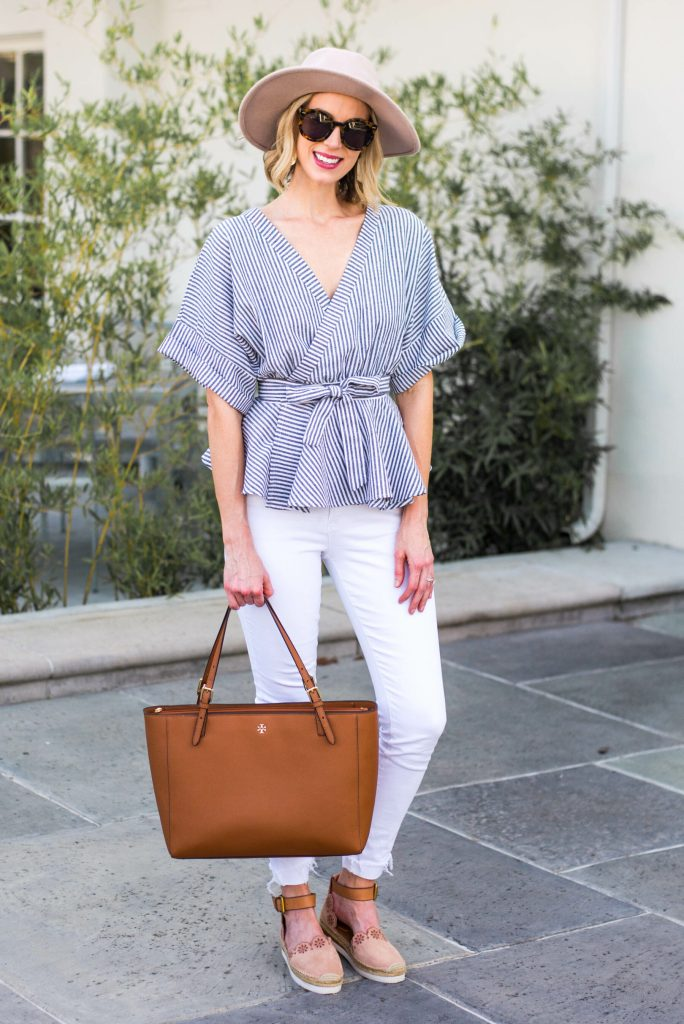 flatter your shape with a wrap top