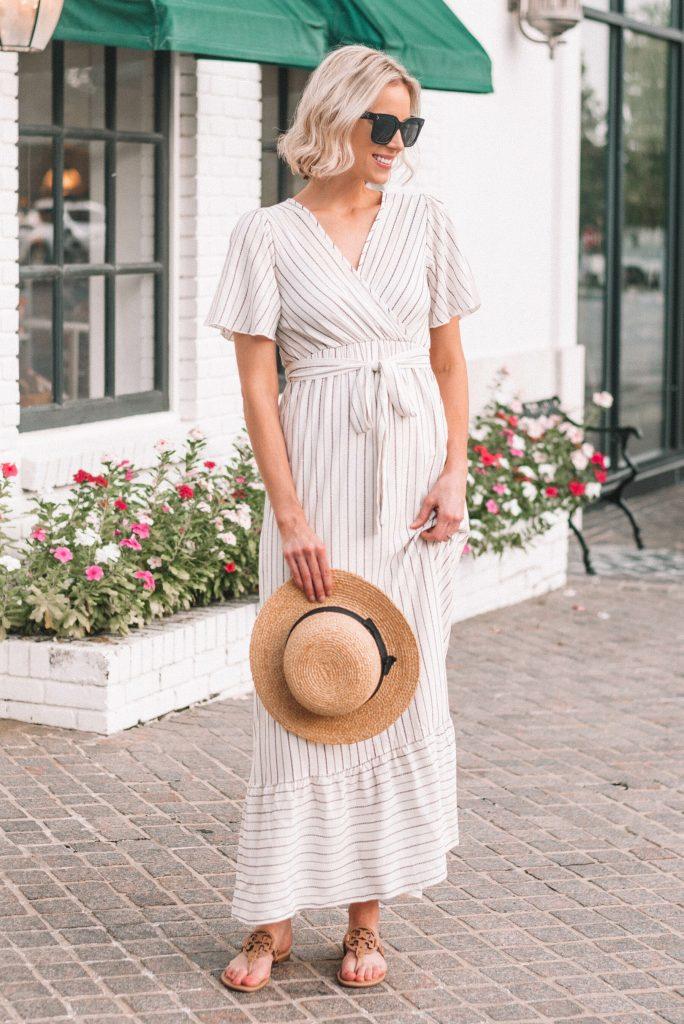 flattering empire waisted maxi dress