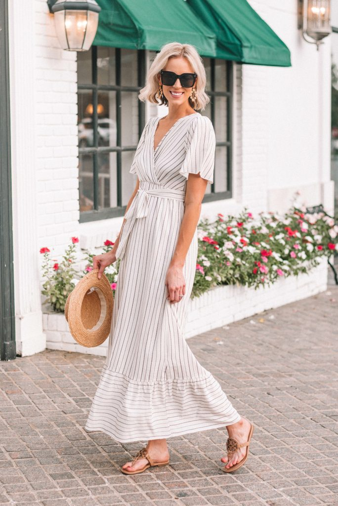 gorgeous striped summer maxi dress