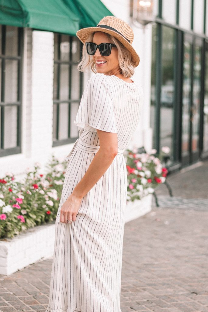straw hat and summer maxi dress