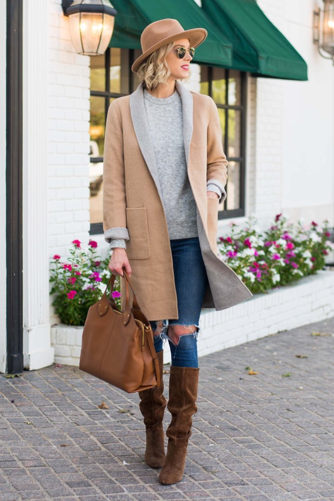 gorgeous neutral fall outfit