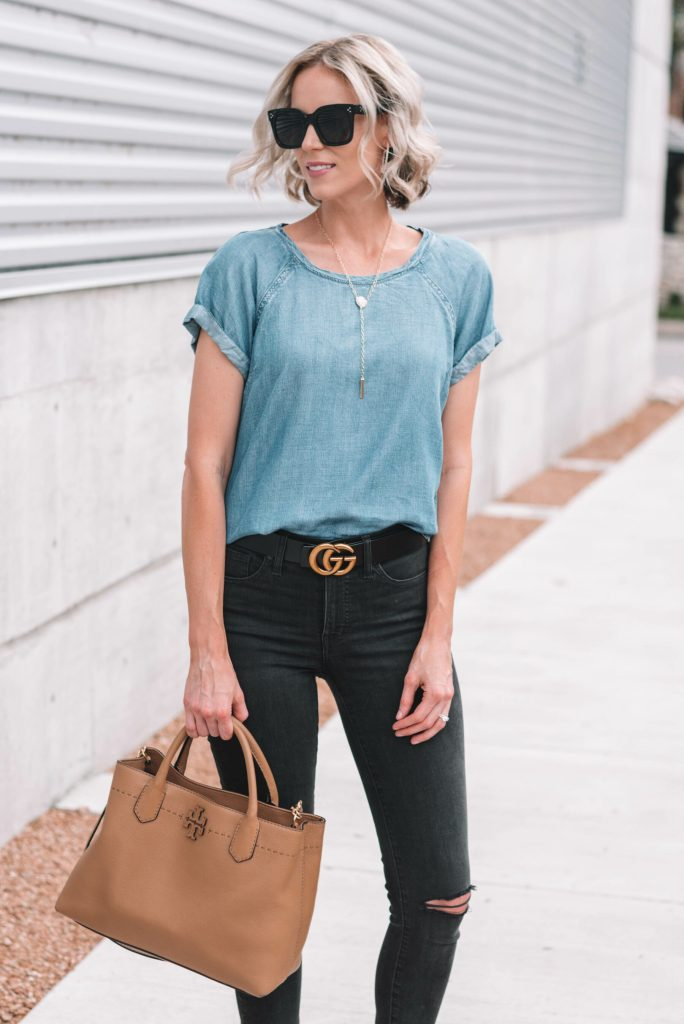 cute and easy neutral outfit