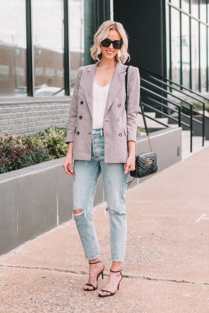 how to wear cropped jeans, straight leg Levi's
