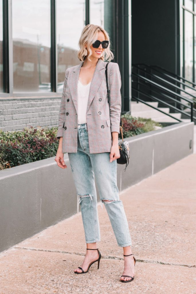 plaid blazers trending for fall