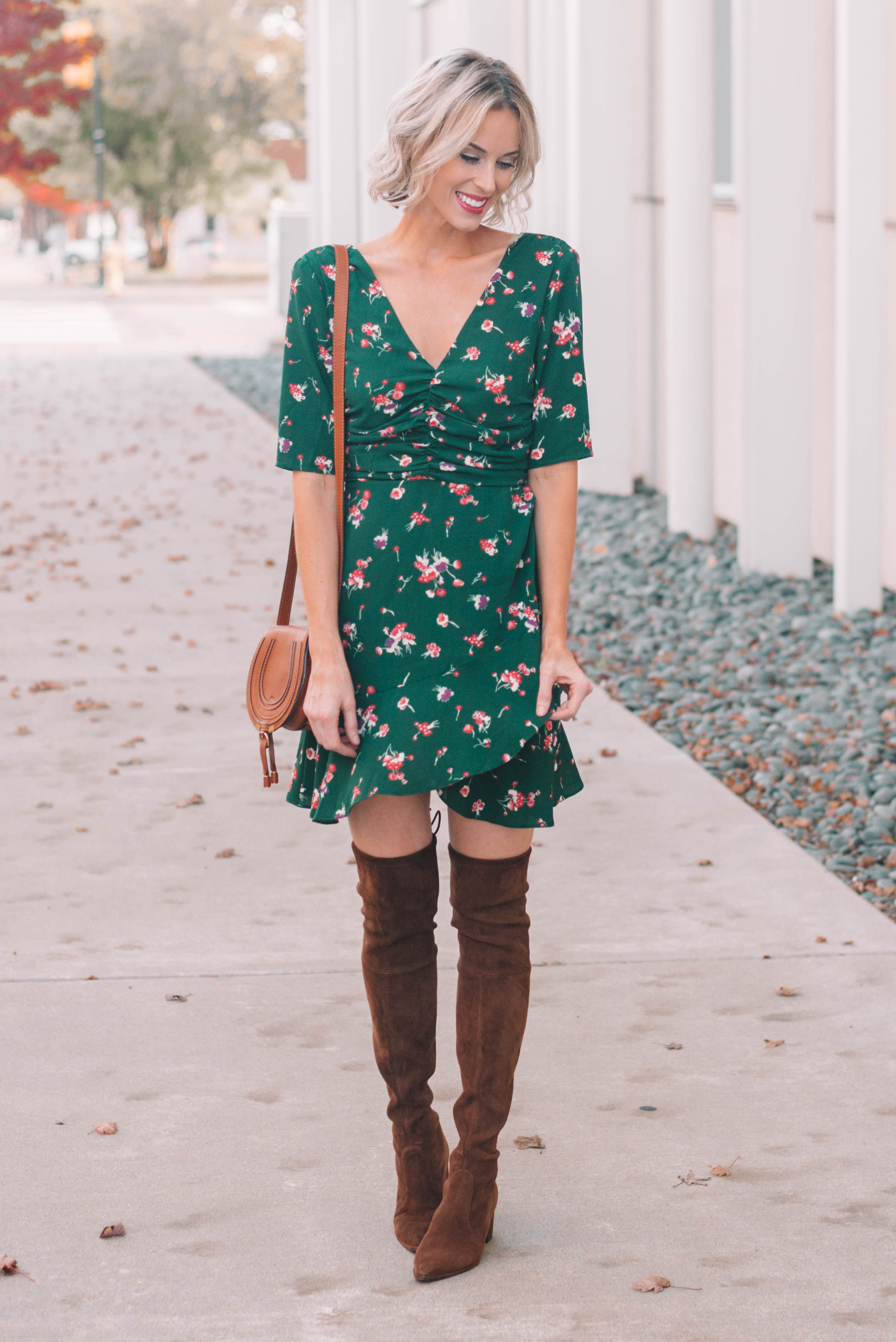 e69fccb5e9d You can also style a midi dress with over the knee boots in which case you  wouldn t worry about the hem. You just want one or the other – boots above  the ...