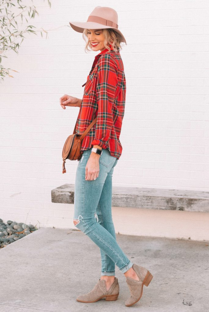 5 Ways to Style a Red Flannel Shirt for the Holidays