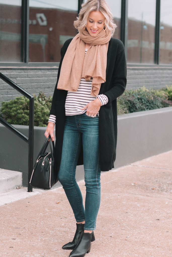 two complete outffits by just adding a cardigan