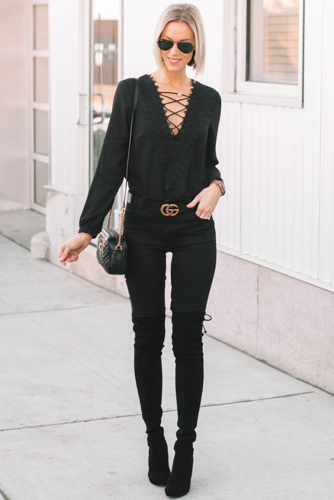 all black outfit for date night