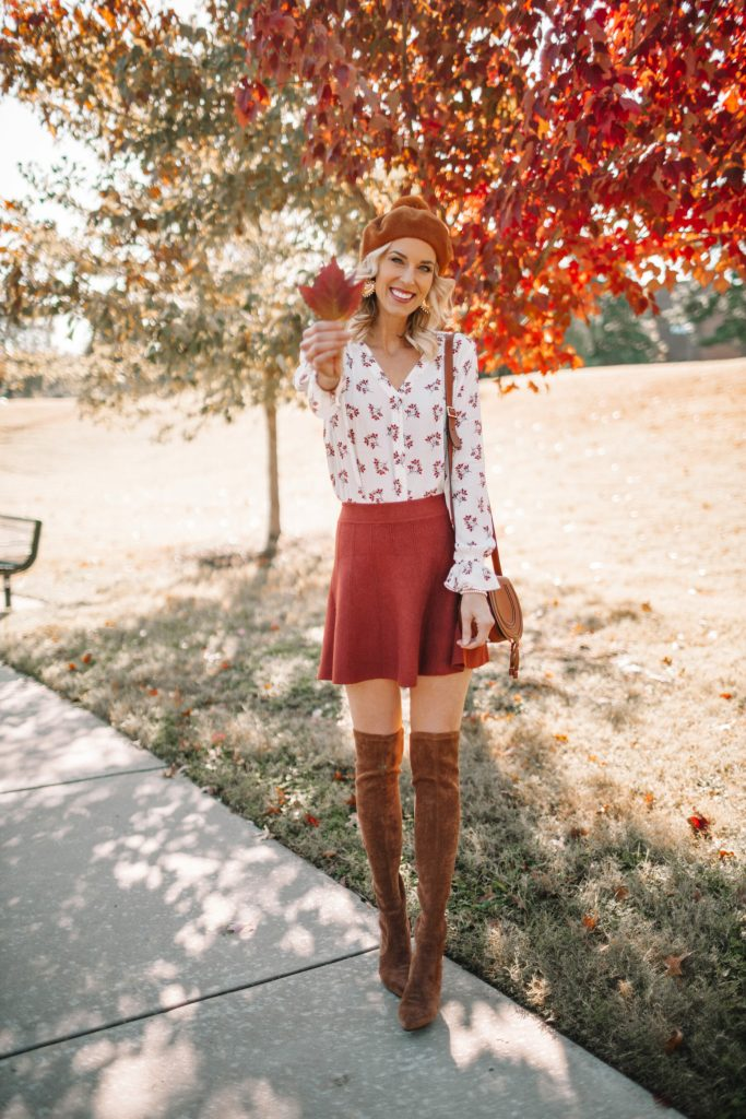 4 ways to wear over the knee boots, how to wear over the knee boots, over the knee boots with a skirt