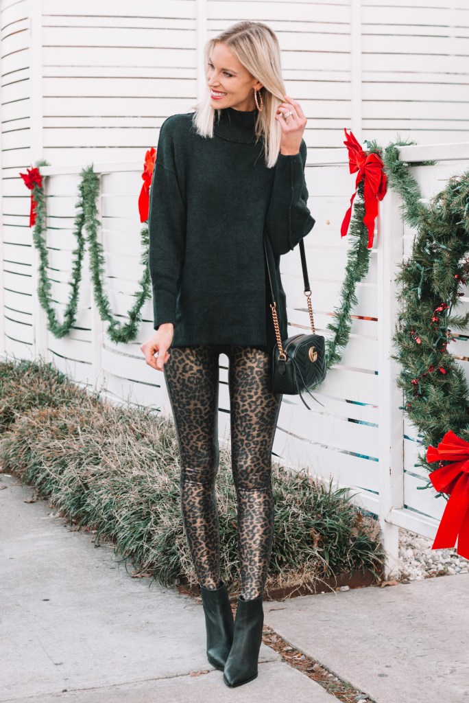 leopard leggings, how to style leopard leggings, how to dress up leggings