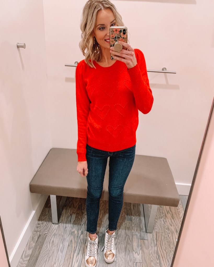 red heart sweater