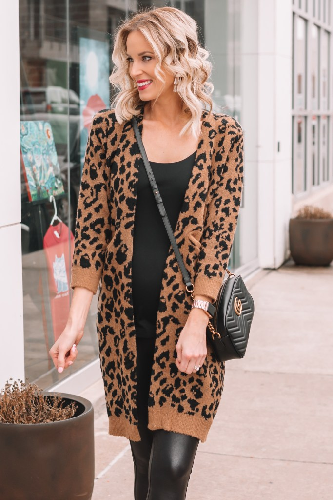 how to wear a leopard cardigan