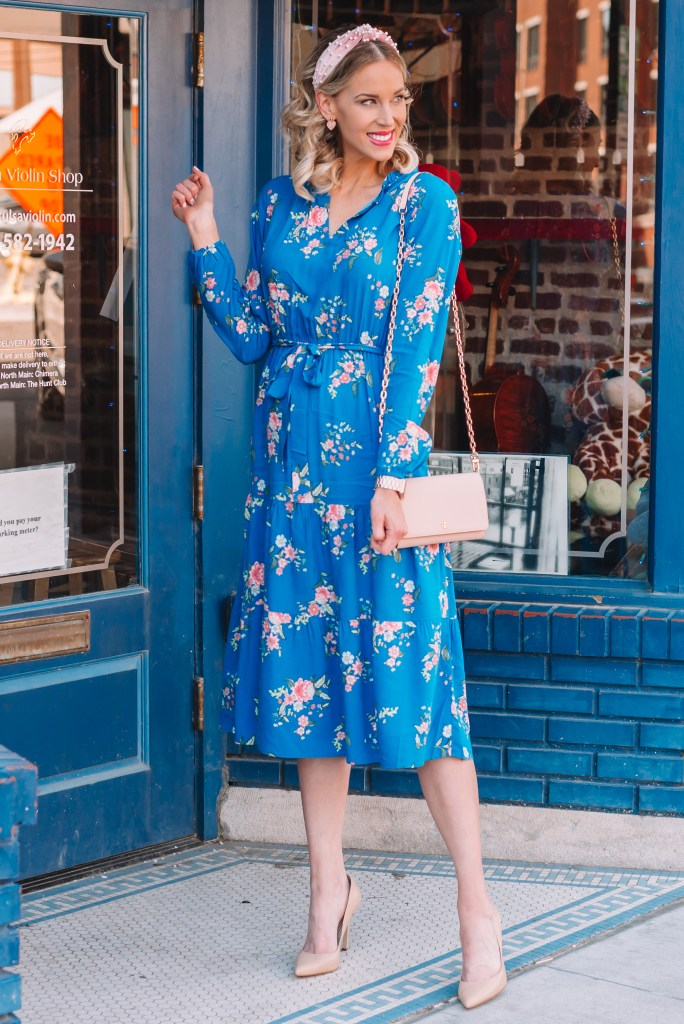 midi dress with empire waist