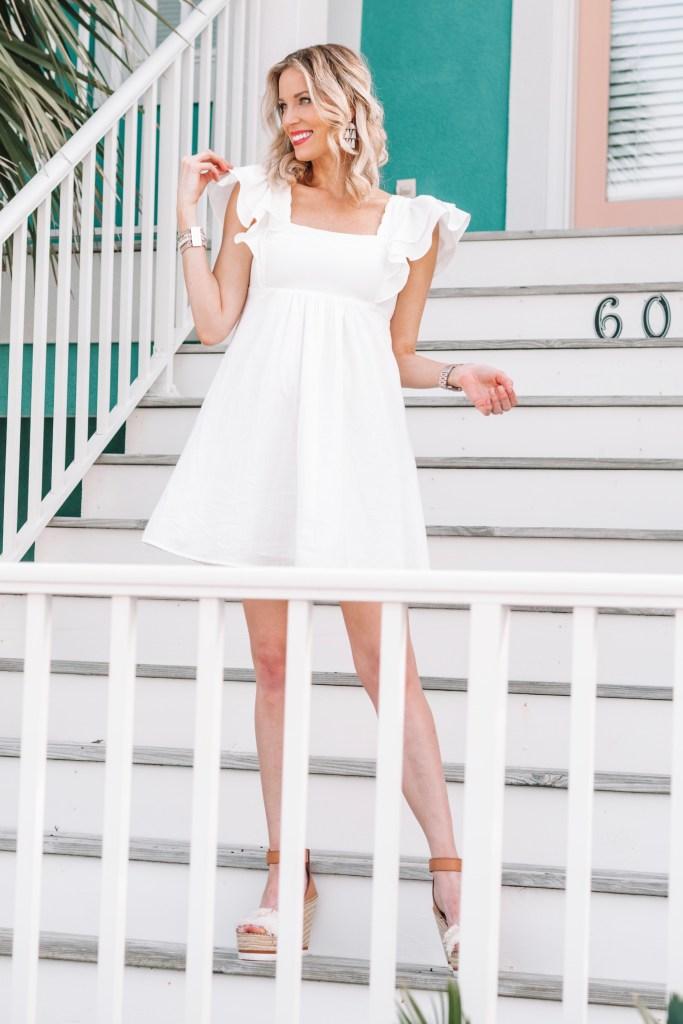 little white dress, white babydoll dress