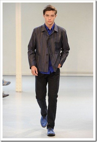 Francisco opening the Issey Miyake SS12 show 2