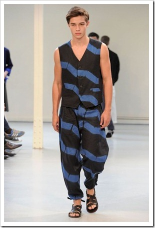 Francisco opening the Issey Miyake SS12 show