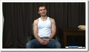 Thuggish straight lad Yosef in the casting room (1)