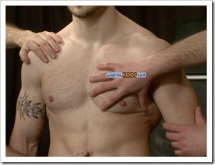groping hands - Muscular tattooed wrestler (4)