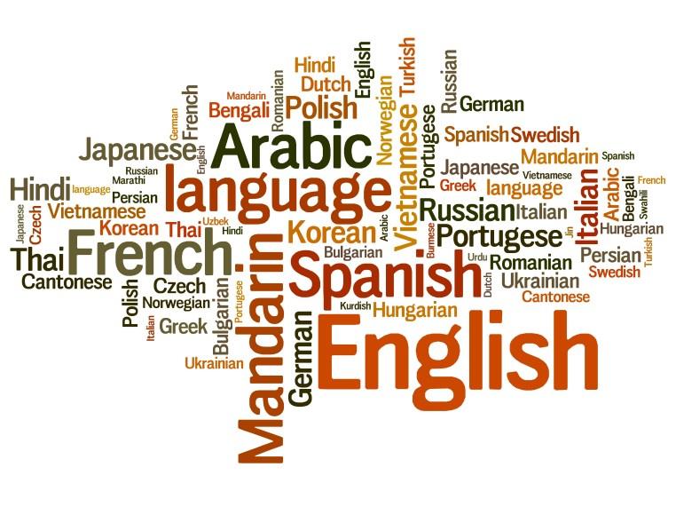 Languages tag cloud – languages diversity