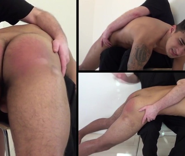 Showing A Man In A Gay Spanking Video Scene