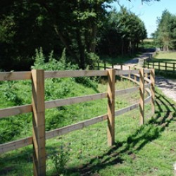 Sawn Post Rail Fencing
