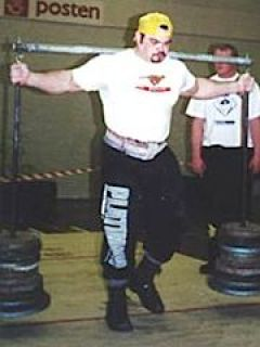 Roy Holte Demonstrating a Strongman Yoke