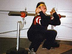 J.V. Askem performing Front Squat