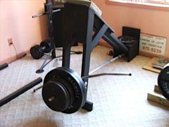T-bar row machine