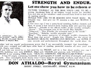 Advertisement for Royal Gymnasium, Leichhardt