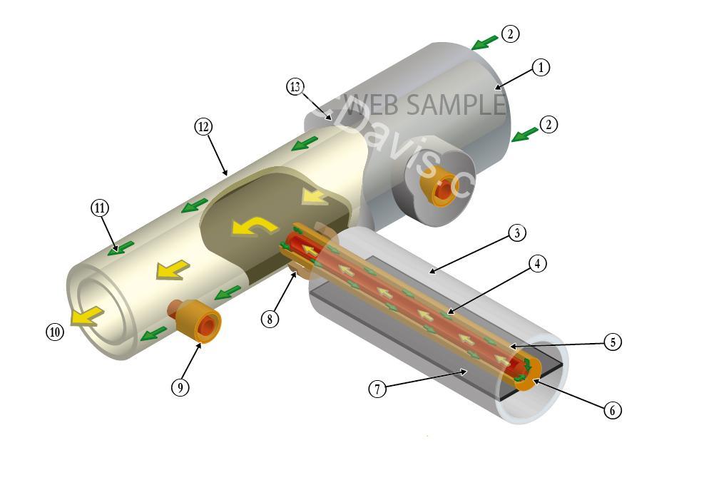 Technical artwork illustration graph