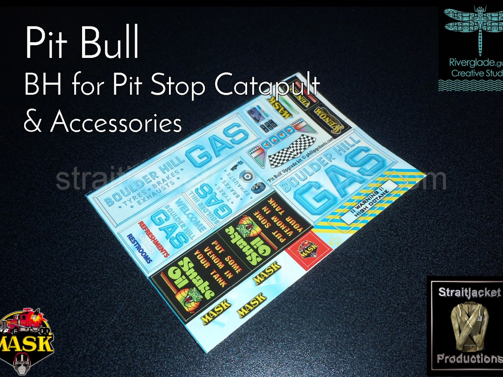 Pit Stop Catapult Boulder Hill stickers labels decals