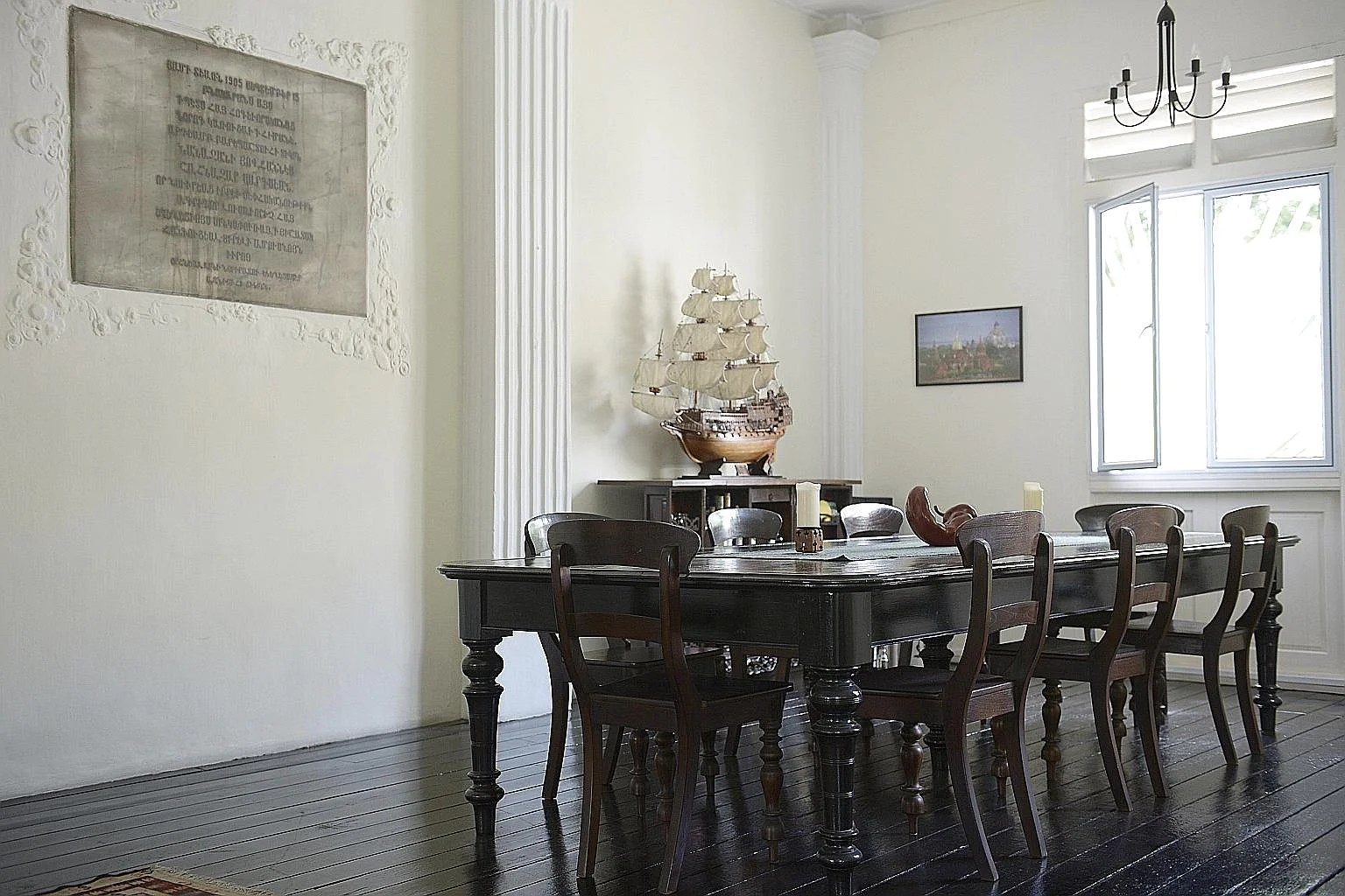 The well-preserved wooden dining set in a corner of the 110-year-old parsonage has been there since the building's early days in the 1900s.