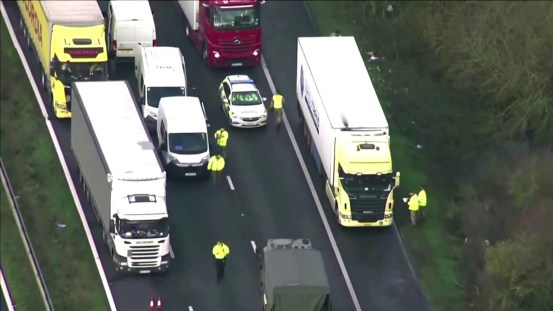 So far, only three truckers are positive on Covid-19 in line to leave England, Europe News & Top Stories