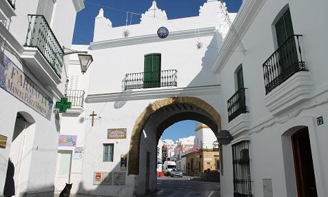 Puerta de la villa in Conil de la Frontera