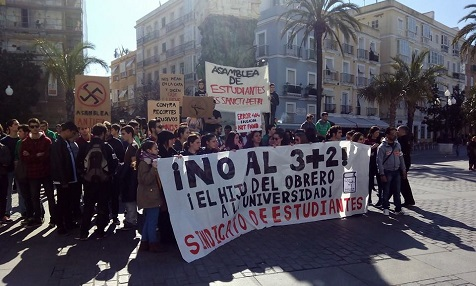 Studentenproteste in Spanien