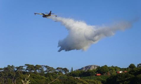Brandstiftung in Spanien