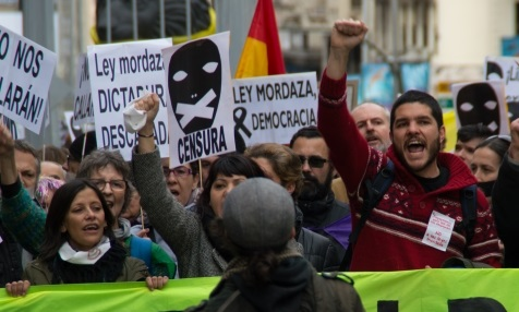 Knebelgesetz Ley Mordaza in Spanien
