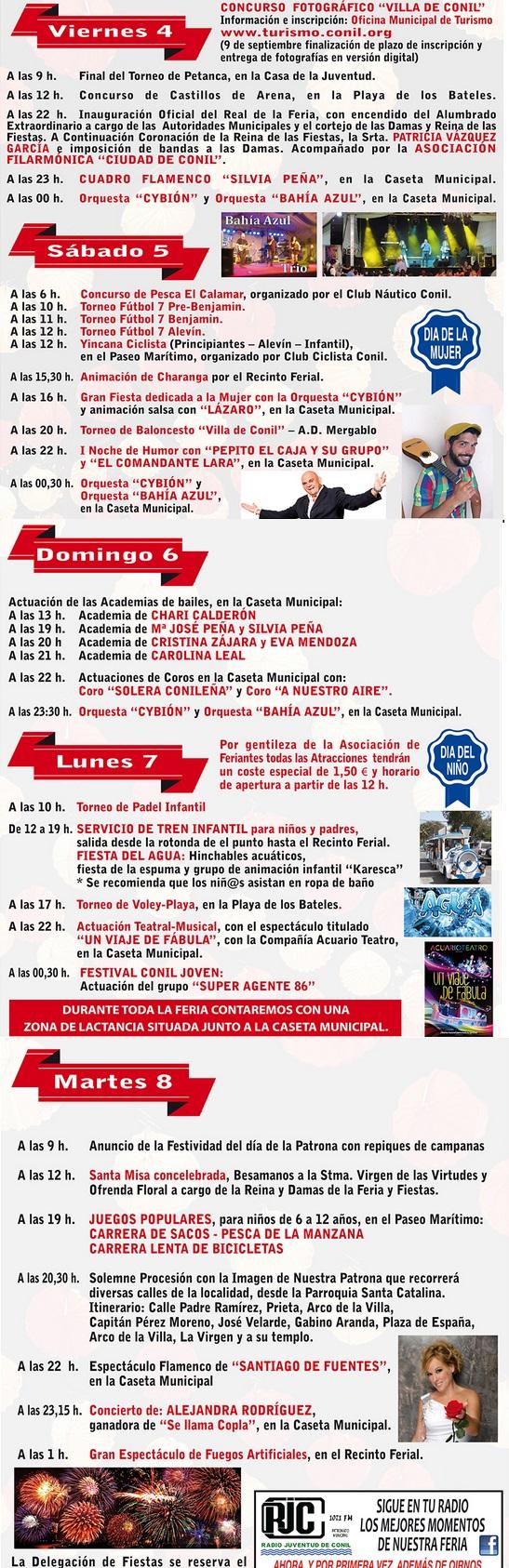 Programm Feria de Conil 2015