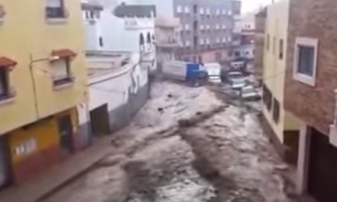 Unwetter in Andalusien
