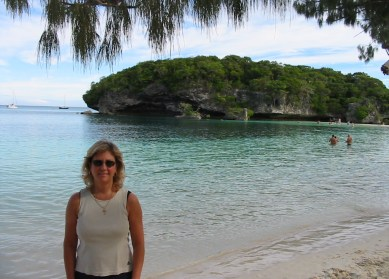 Suzanne Perazzini on the Isle of Pines