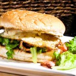 Fried Egg, Bacon & Feta Sandwich