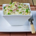 Leek, Bacon and Pea Risotto