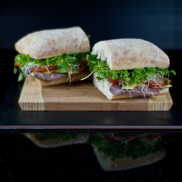 Beef & Salad Ciabatta Sandwich