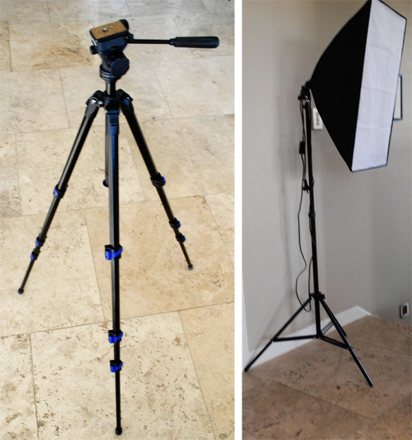 Tripod and photography light with diffusor