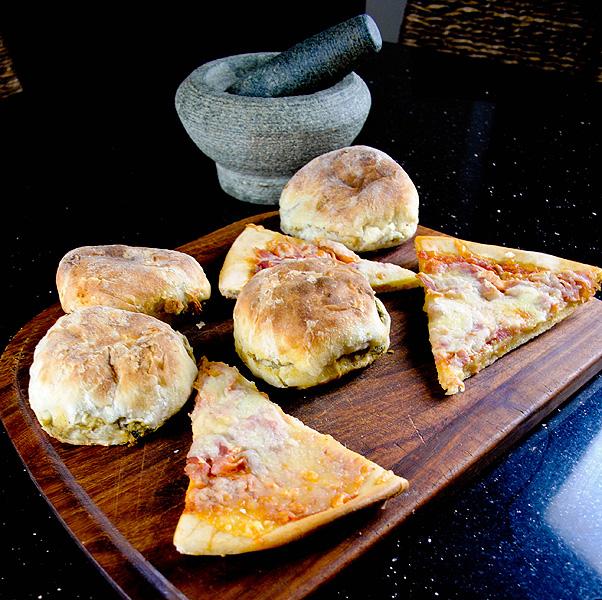 Vegetarian Samosas & Leftover Pizza