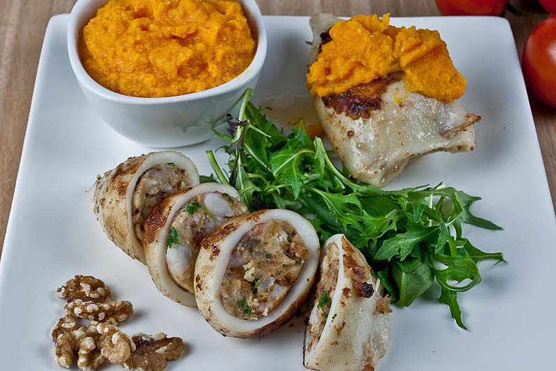 Stuffed calamari - Low Fodmap